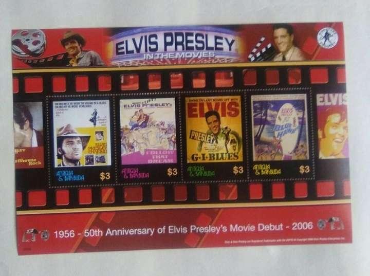 Imagen producto Bloque de 4 sellos Elvis Presley carteles de sus películas.  3