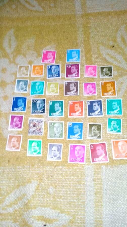 Imagen sellos de muchos paises