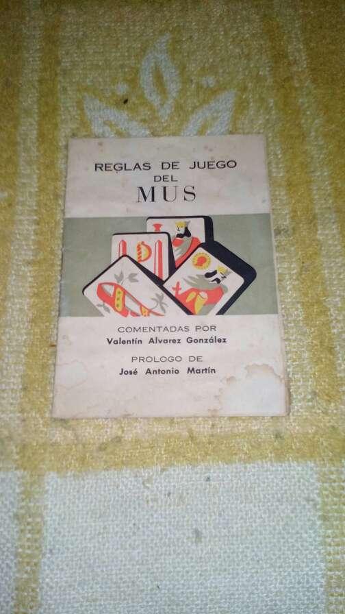 Imagen librillo de las reglas del mus washap