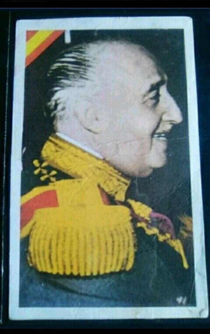 Imagen Cromo antiguo F. Franco.