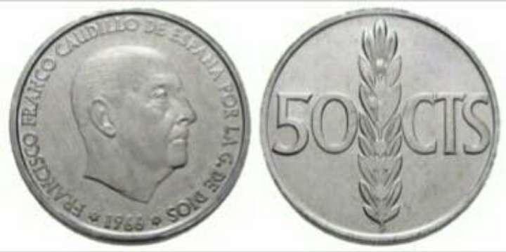Imagen producto Monedas 50 cts de F. Franco.  3