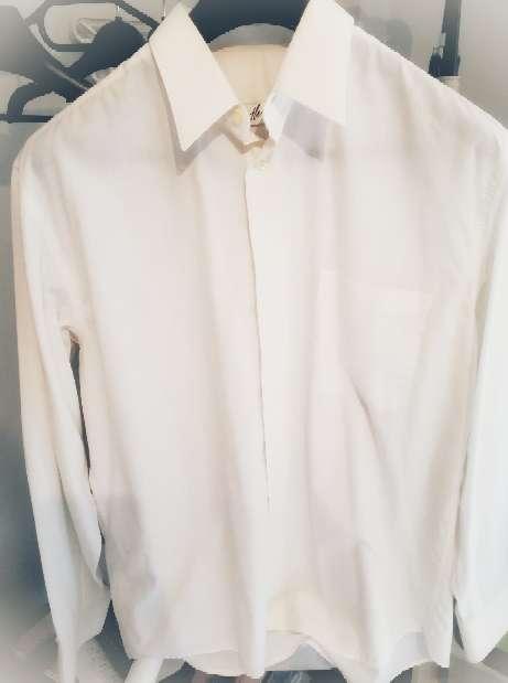 Imagen Camisa de manga larga hombre blanco talla xl