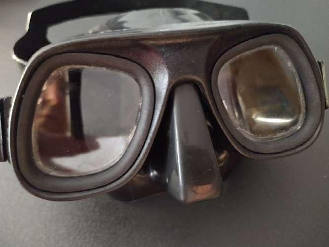 Imagen gafas de buceo Aphnea de submarinismo negras con elástico perfecto