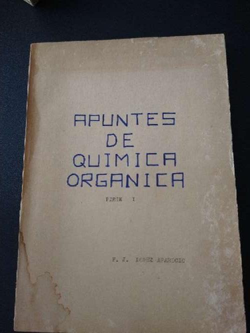 Imagen libro que se regala antiguo de apuntes de química orgánica, parte I,