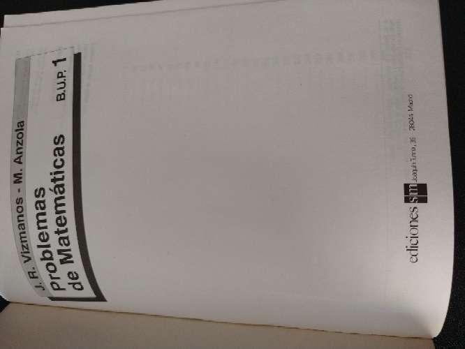Imagen producto Libro que se regala de problemas de matemáticas B.U.P. 1 3