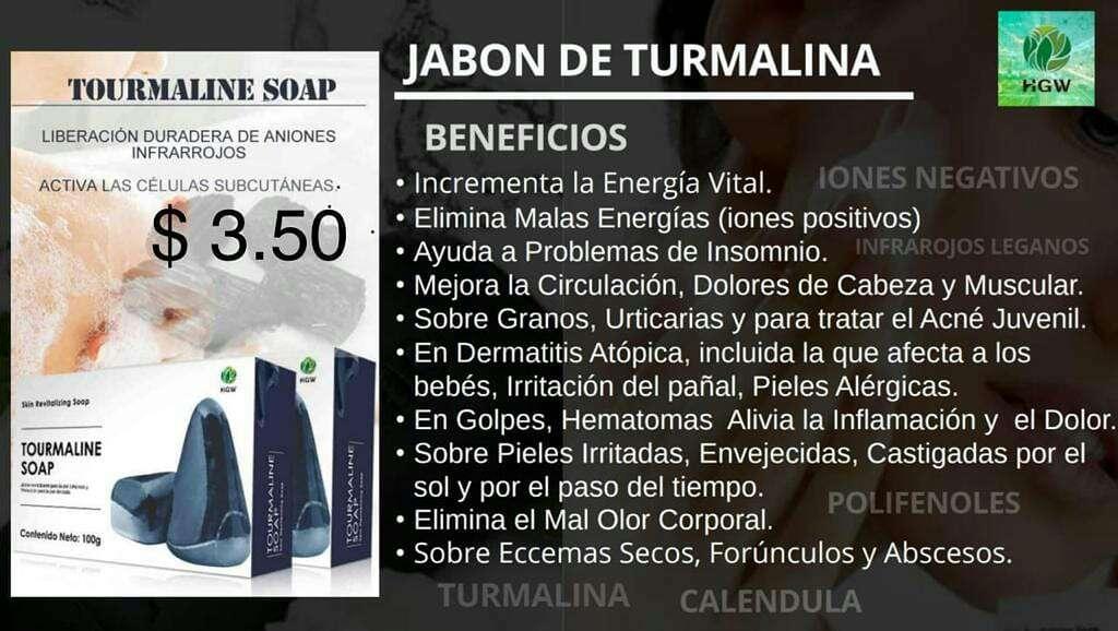 Imagen producto Jabón TOURMALINE SOAP de HGW 3