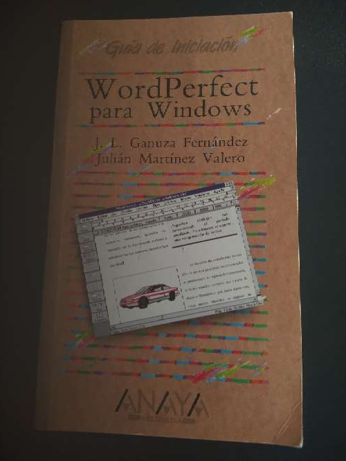 Imagen libro que se regala Word Perfect 5.1 para Windows