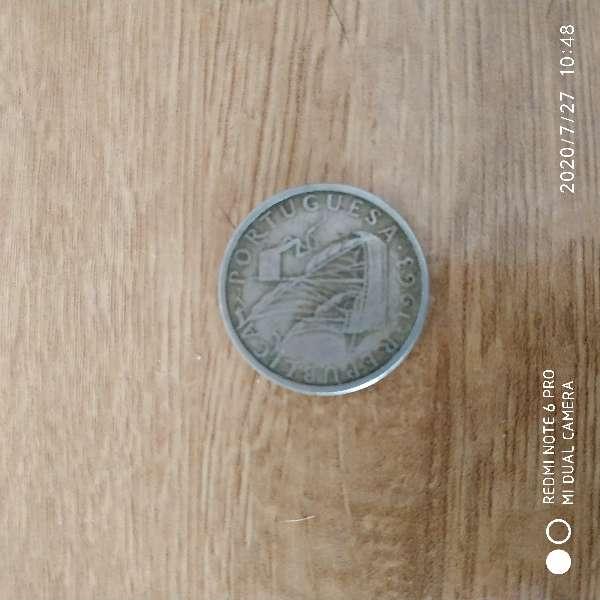 Imagen moneda República Portugal 1963