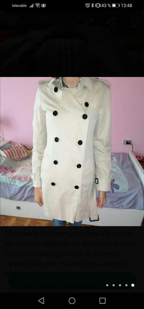 Imagen chaqueta burberry nueva original mujer talla s