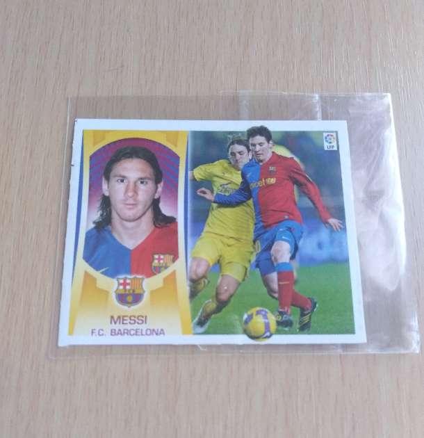 Imagen Messi cromo card fútbol.