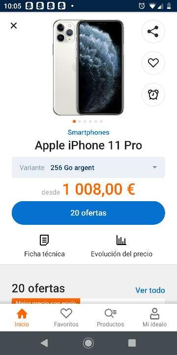 Imagen iphone 11 pro  256 gb