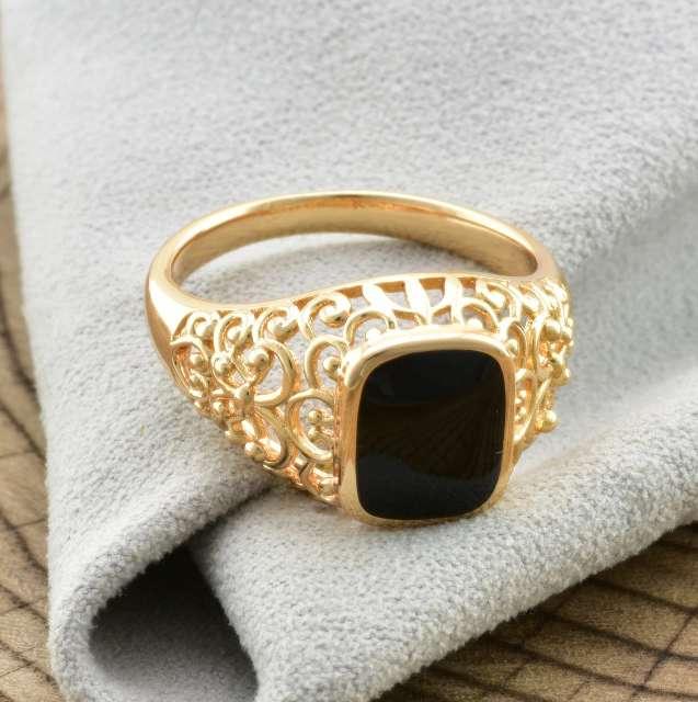 Imagen anillo de hombre chapado en oro