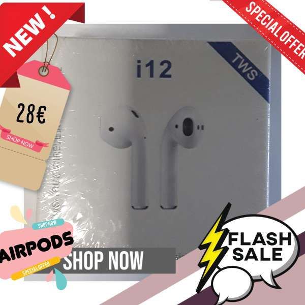 Imagen Air pods nuevos iPhone 12