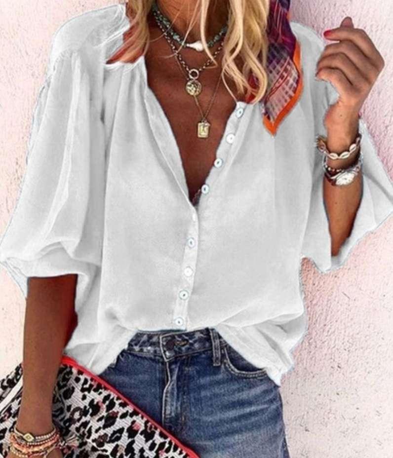 Imagen Blusa blanca verano sin estrenar