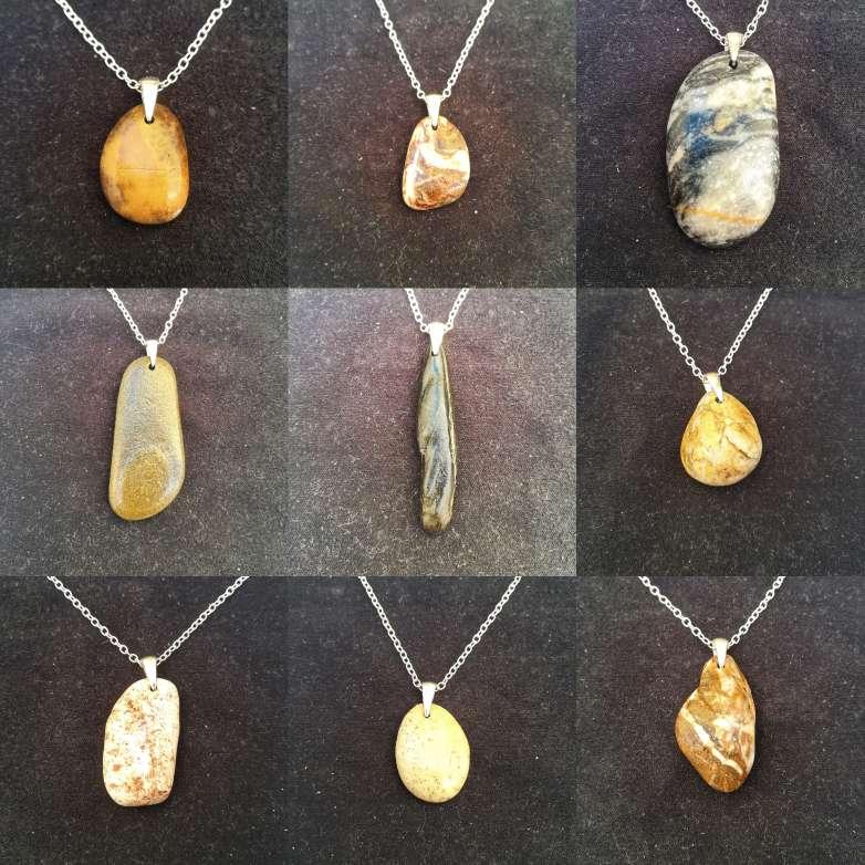 Imagen Colgante piedra natural en plata 925