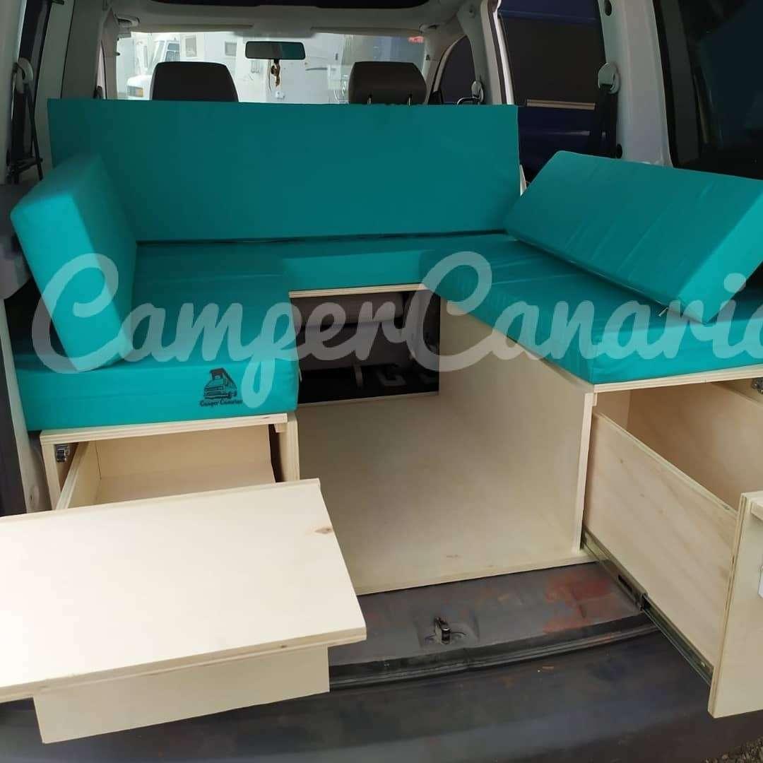 Imagen producto Camperizado madera laminada cajón fregadero y colchones incluidos  4
