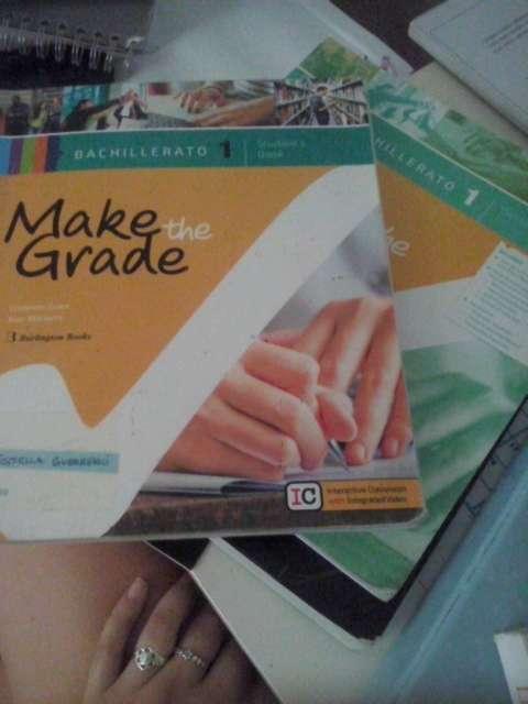 Imagen make the grade, libro y cuadernillo. 1 bachillerati