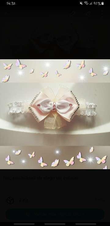 Imagen cintillo bebé rosa