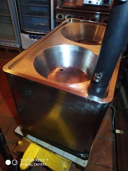 Imagen freidora fogón doble churros industrial