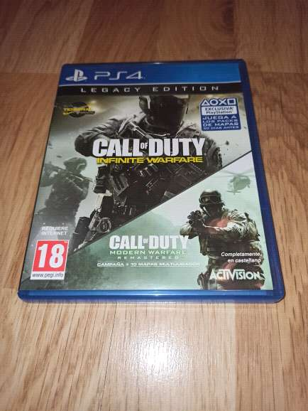 Imagen Call of Duty Infinity Warfare y Modern Warfare