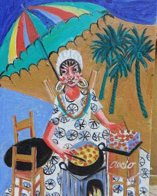 Imagen aecio vendedora de acarajé medida 40x30