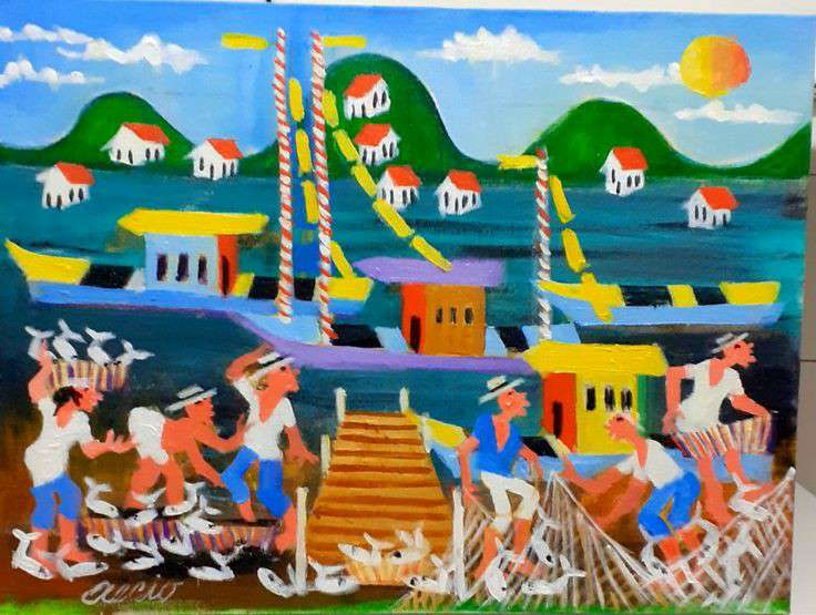 Imagen aecio tema pescadores 40x30