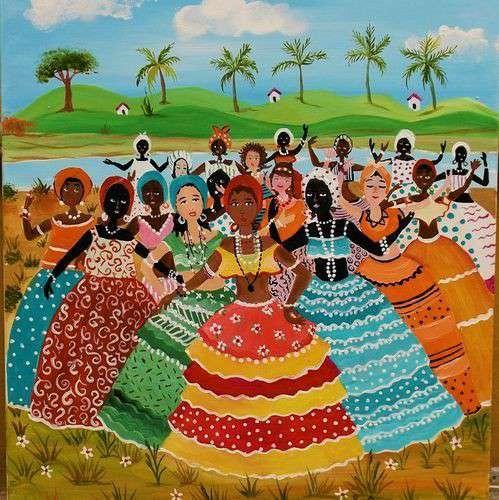 Imagen leila Moreirao tema desfile das baiha medida 50x40