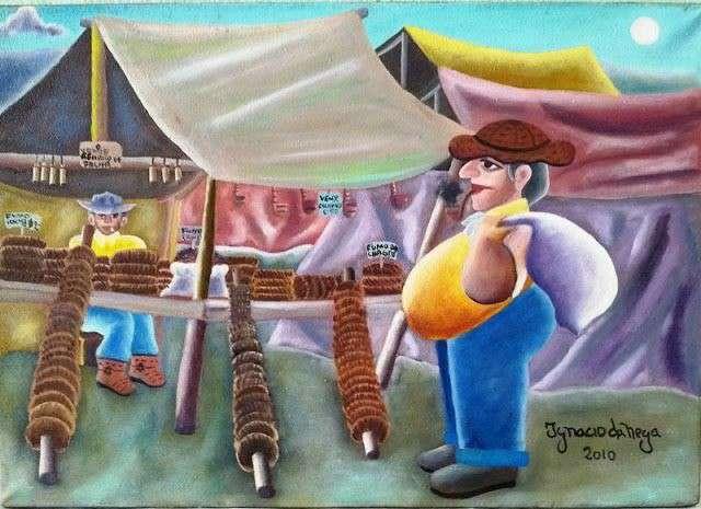 Imagen ignacio da nega tema tema vendedor de fumo de rolo medida 50x40