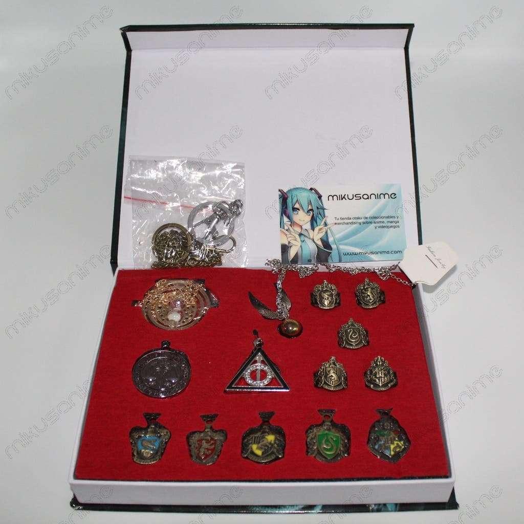 Imagen Caja coleccionismo harry Potter anillo llavero colgante