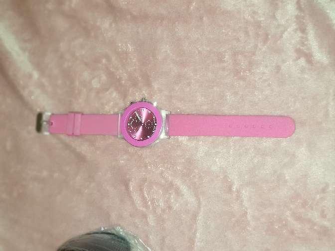 Imagen reloj color rosa