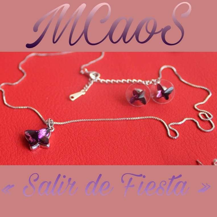 Imagen Conjunto Mariposa con Cristales Swarovski