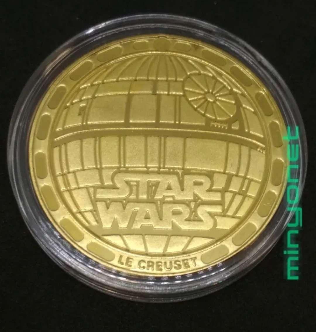 Imagen producto Colección de 5 monedas - medalla Star Wars chapadas en oro 24 K. - la guerra de las galaxias 3