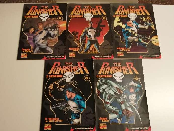 Imagen Cinco cómics el Castigador