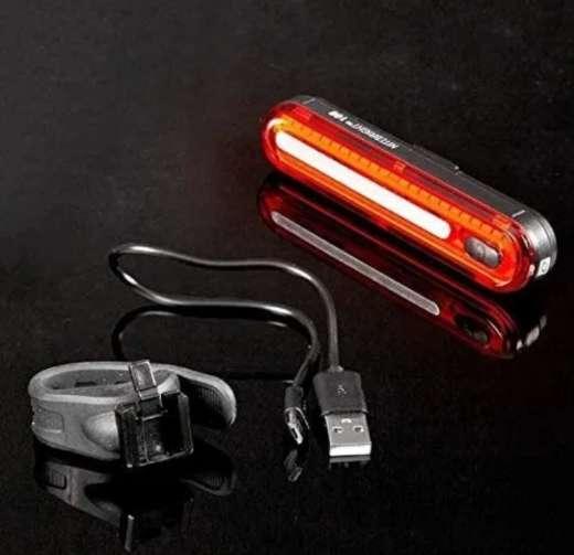 Imagen Luz LED trasera de bicicleta recargable