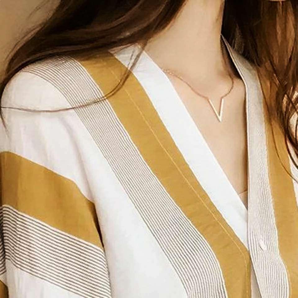 Imagen blusa a rayas talla XL