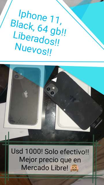 Imagen Iphone 11 pro Silver y Iphone 11 Black de 64 gb ambos!