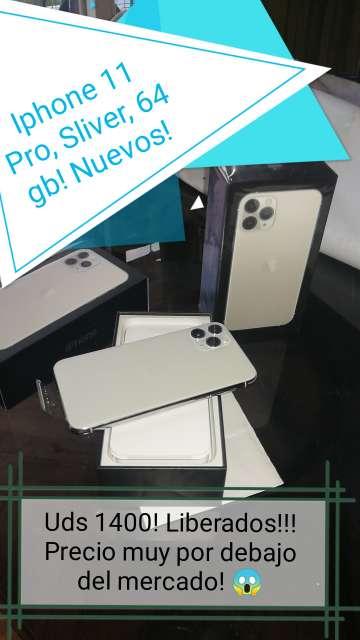 Imagen producto Iphone 11 pro Silver y Iphone 11 Black de 64 gb ambos!  2