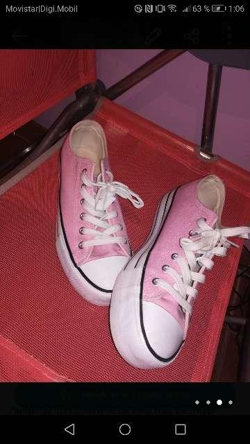 Imagen producto Zapatillas lona plataforma mujer  3