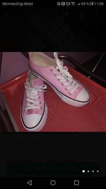 Imagen Zapatillas lona plataforma mujer