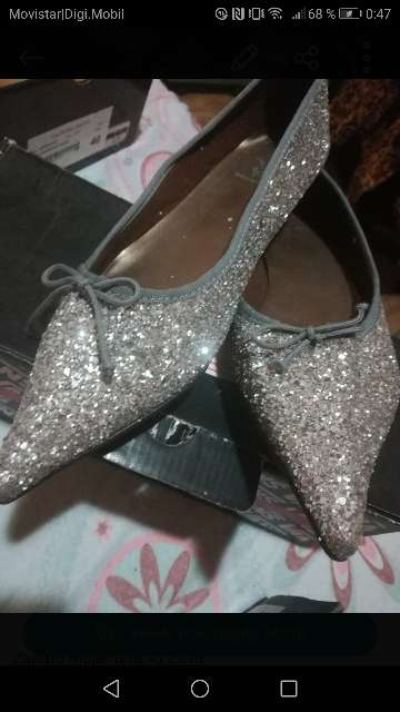 Imagen zapato mujer punta purpurina (talla 41)