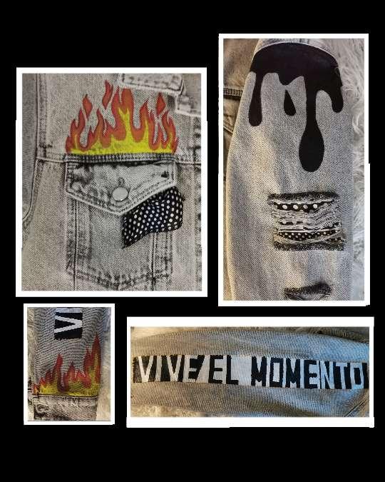 Imagen producto Nueva chaqueta pintada a mano  4