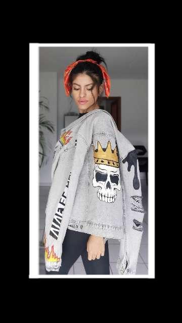Imagen producto Nueva chaqueta pintada a mano  5