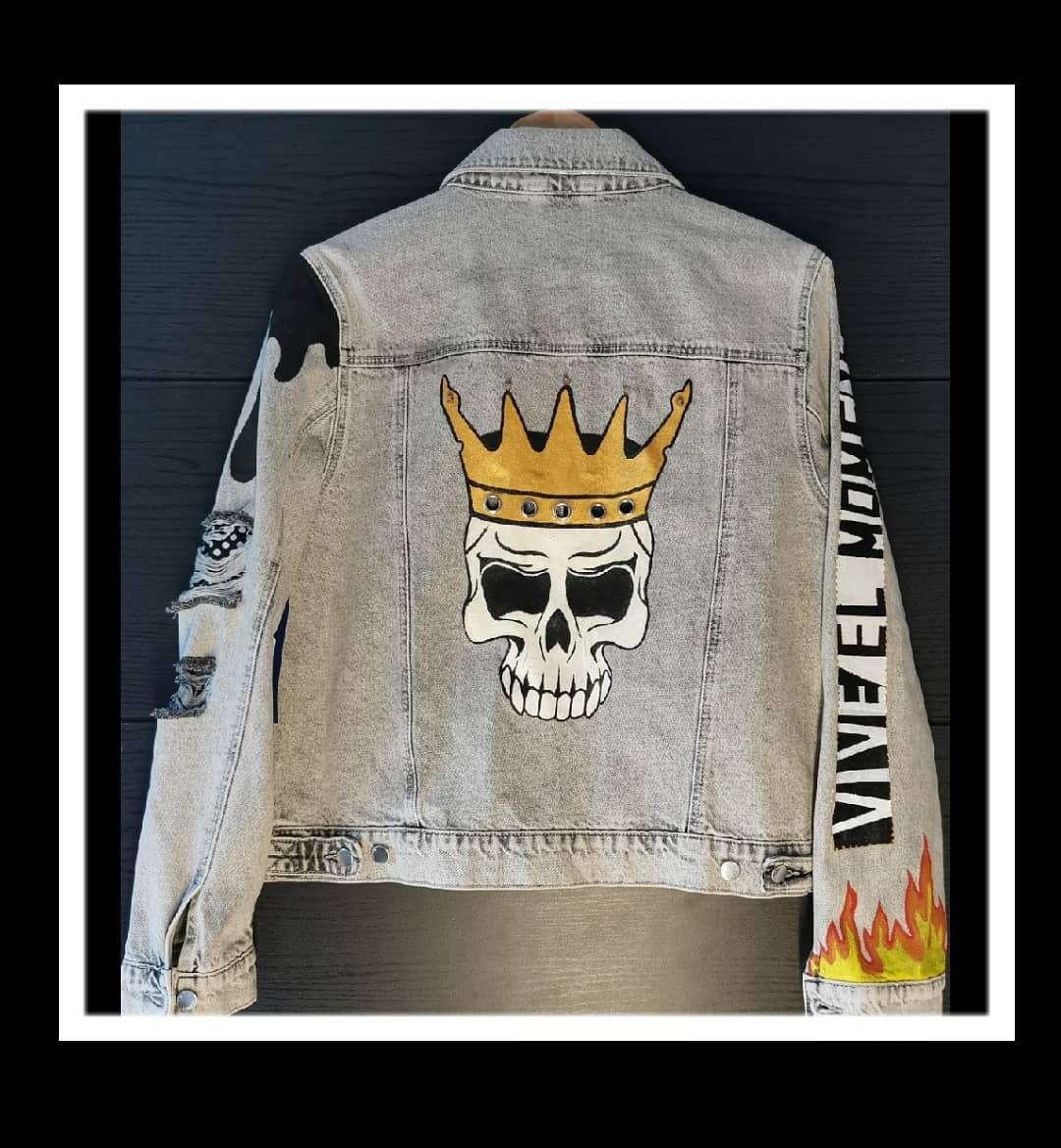Imagen producto Nueva chaqueta pintada a mano  2
