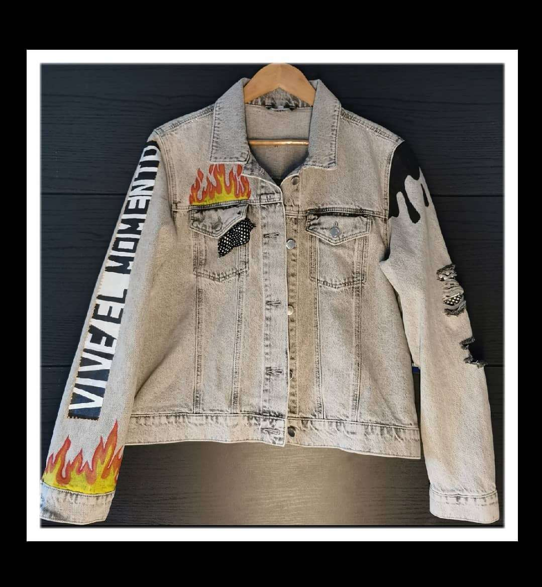 Imagen producto Nueva chaqueta pintada a mano  3