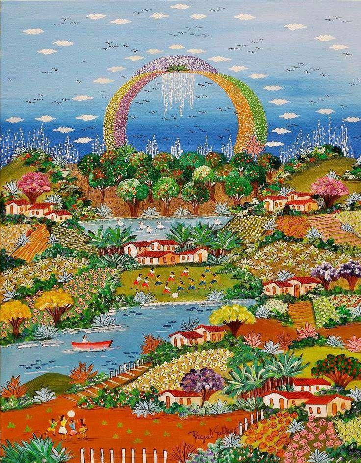 Imagen Raquel galena tema arco íris medida 40x50