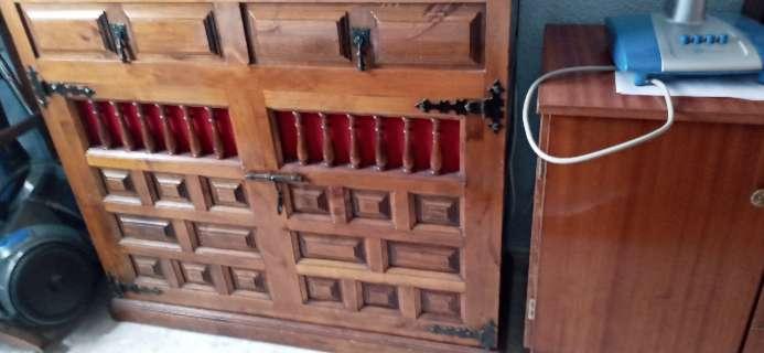 Imagen mueble cama 90 tiene ruedas castellano madera