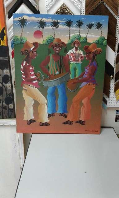 Imagen josinaldo arte naif tela medida 80x60
