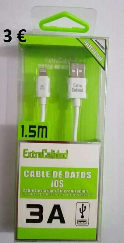 Imagen cable USB para iphone