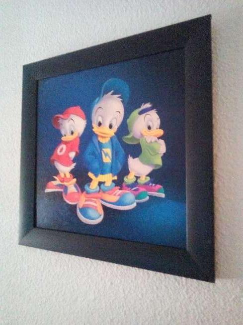 Imagen Cuadro Disney patoaventura 23x23