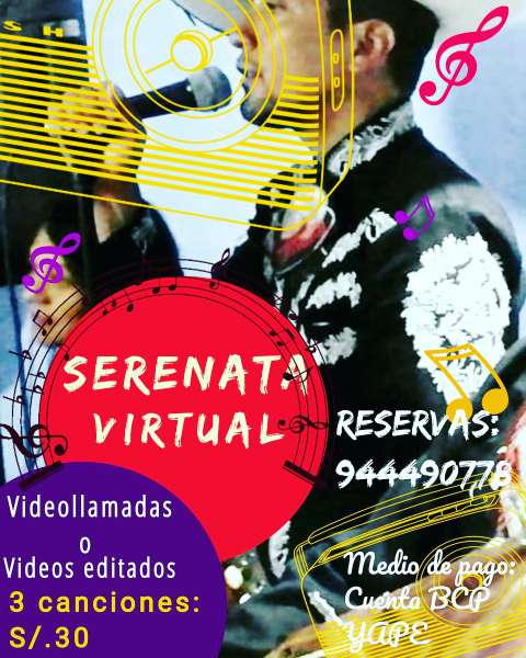 Imagen producto Serenatas Presenciales y Virtuales 1